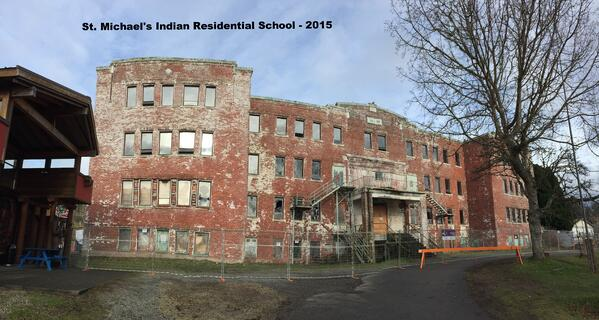 St. Michael's Indian Residential School in Alert Bay - 2015 - just prior to demolition