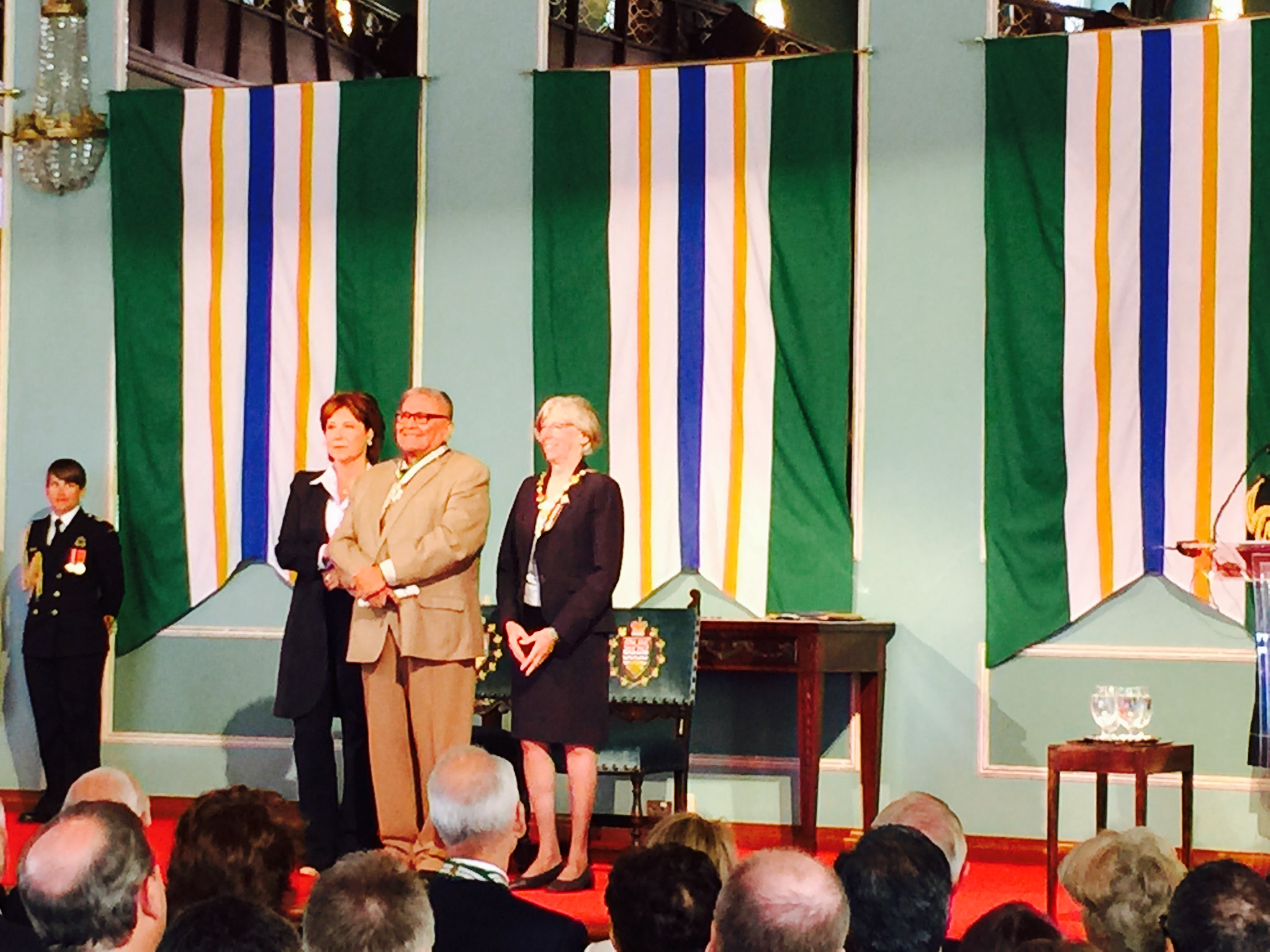 Chief Robert Joseph BC Premier Christy Clark Judith Guichon Lieutenant Governor of BC