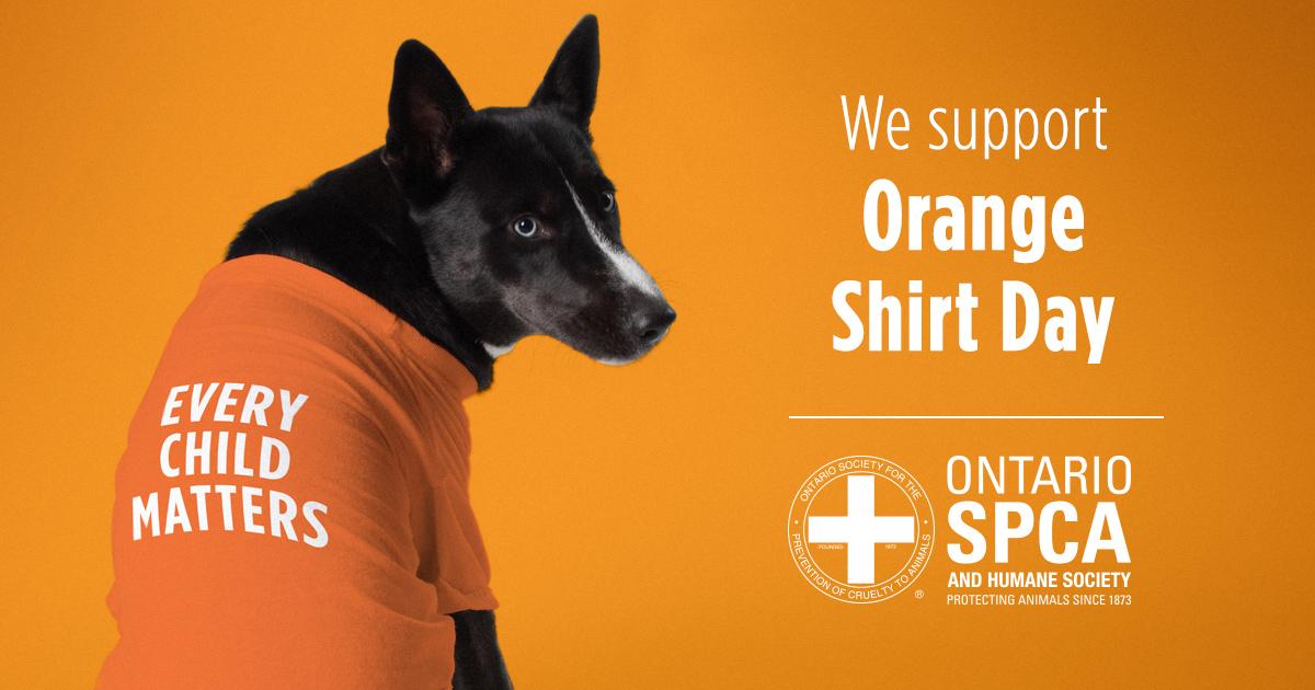 ONT SPCA Orange Shirt Day