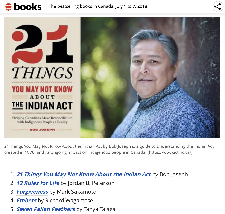 CBC Bestselling Books - July 2018