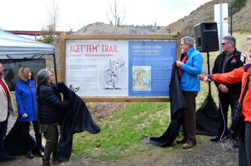 Opening of the Xget'tem' Trail