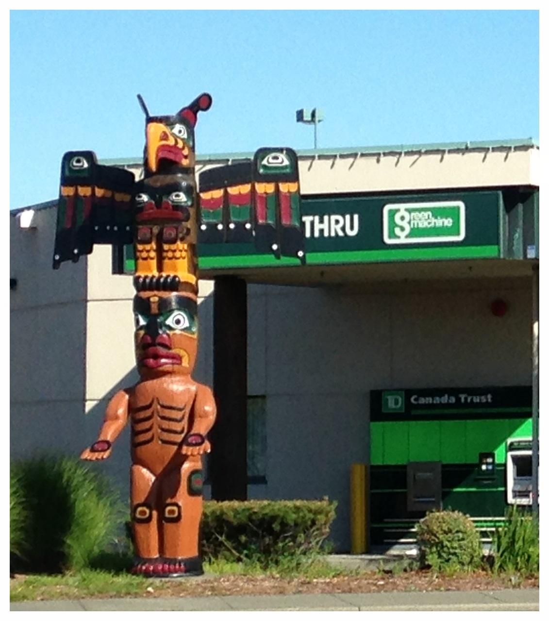 First Nation totem pole
