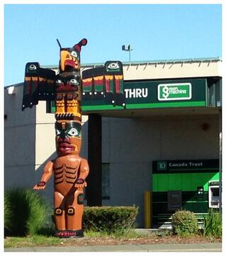 First Nation totem pole