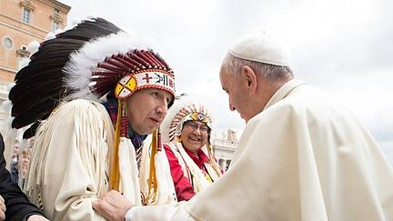 chief-tony-alexis-and-pope-francis