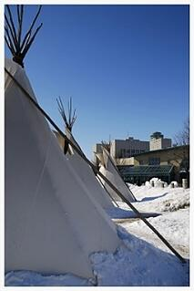 tipis-in-snow